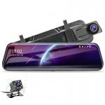 """Edotec EDT-FSV9 Oglinda cu monitor Full HD 10"""" camera fata DVR si camera spate"""
